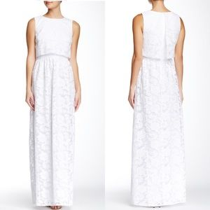 Erin Featherston white orchid organza lace gown